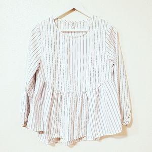 Babydoll / Peplum Long Sleeves Top
